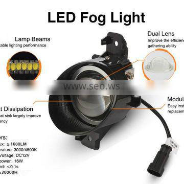 Super bright 1600W auxiliary lights for cars LED FOG LAMPS range & brightness enhancing LED fog lamp for low beam perfect match