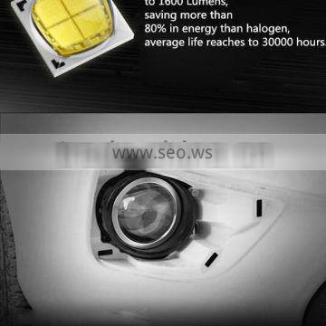 Range and brightness enhancing customized design 12V 16W led fog car lamp for Peugeot 2008 (14-15) with dual lens, high quality