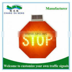 Stop sign led stop sign octagon shape solar led traffic road sign