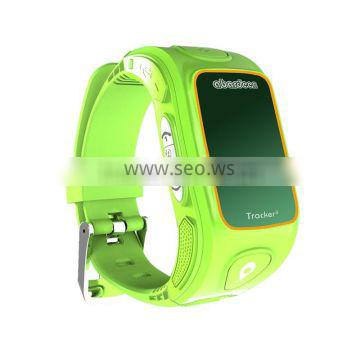 Kids gps tracker watch cellphone with light sensor insure watch on the wrist