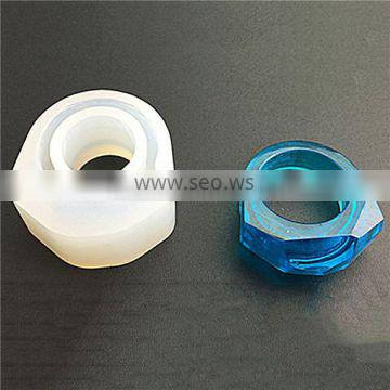 Wholesale Finger Ring White Faceted Silicone Resin Mold