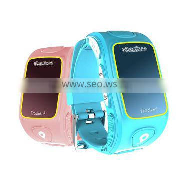 SOS button pressed call family numbers take turns wrist watch for kids