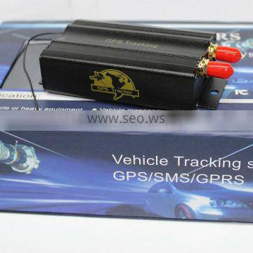 satellite antenna vehicle gps tracker for car and motorcycle, engine automobiles easy to install vehicle gps tracker TK103b