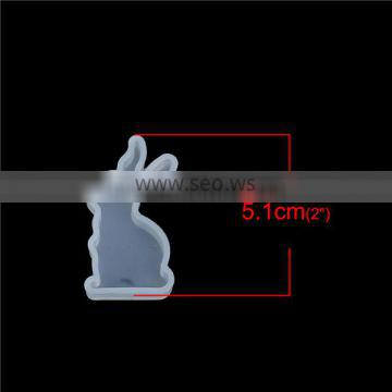 Silicone Resin Mold Rabbit Animal White 51mm x 27mm