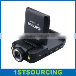 HD K2000 Car DVR with camera rotate 120 degree, screen 270 degree