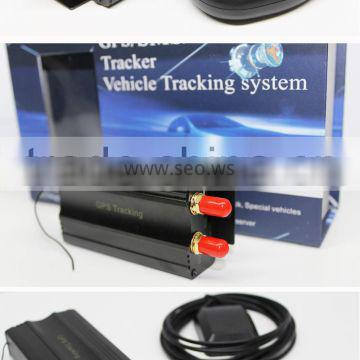 New vehicle gps tracker with analog 0-5v output and free online real-time tracking software google map backup sensortk103b