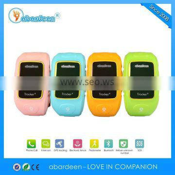GSM GPRS kids gps tracker mobile phone watch with Bluetooth anti-lost