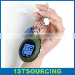Personal Mini GPS Tracker Location Finder with Display Screen and Keychain