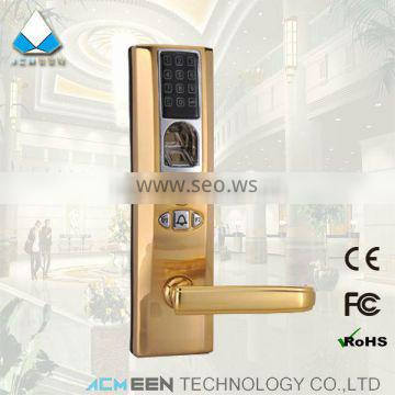 biometric bronze digital fingerprint door lock