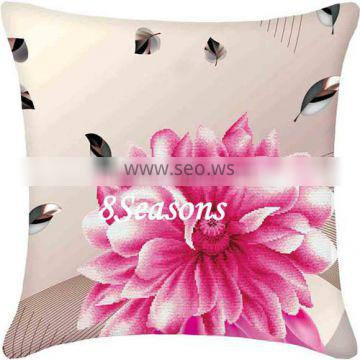 Top Quality Flower Pattern Cotton Embroidery Needlework DIY Cross Stitch Square Throw Pillow