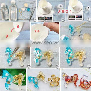 Silicone DIY Tools Dog Animal White Resin Mold