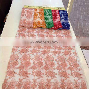 New beaded embroider Lace Fabrics for Blouse and Wedding Dress 2014