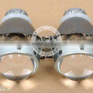Q5 high and low beam projector lens for car headlight,with auto hid bulb