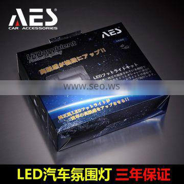 AES price colorful car accessories auto parts footwell lighting LED ambient Atmosphere lamp Interior Mood Lighting