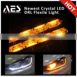 Dual color flexible drl led strip ,drl and turning light