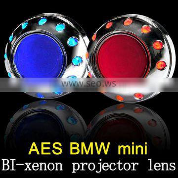 AES projector beam headlight projector lens hid 2.5