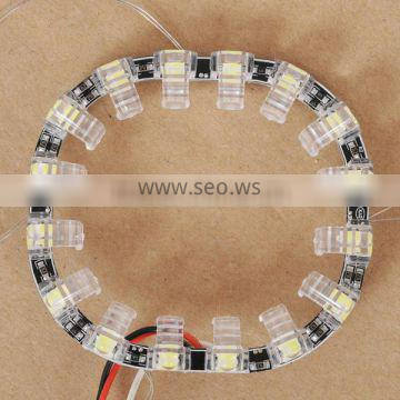 Newest!!! Hot Sale Square LED angel eyes for car H7 xenon projector lens, LED halo ring