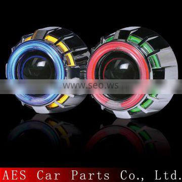headlight manufacture Bixenon Auto parts tuning Hid projector len double angel eyes car hid