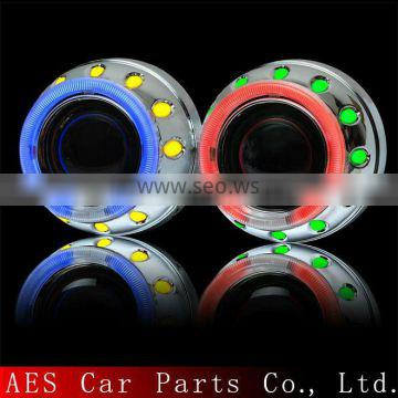 AES halo light ring h4 xenon mini projector lens