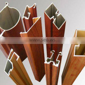 wooden shift aluminium profile for windows or doors