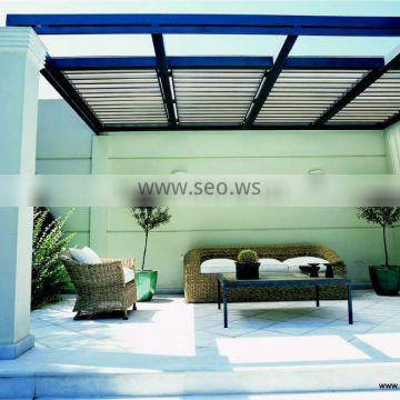 powder coated aluminium profiles for structure roof canopy