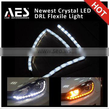 Newest design ! flexible led drl with crystal frame