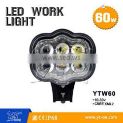 high lighting 60W LED work lamp 12V/24V universal car work lights