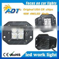 2016 hot selling Die-cast Aluminum Housing High-power LED 16W LED Automotive Work Light