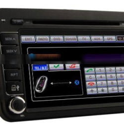 1080P Quad Core Touch Screen Car Radio 1024*600 For VW Skoda