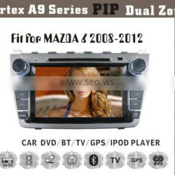 8inch HD 1080P BT TV GPS IPOD Fit for MAZDA 6 2008-2012 car dvd touch screen gps