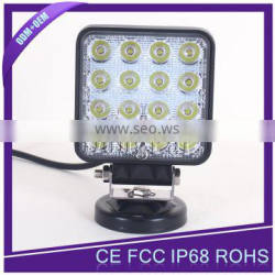 4500 lumen IP67 led work lamp 48W led flood light work lamp