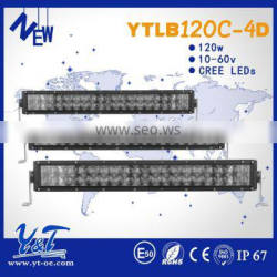 2015 NEW Slim single row dual row 4D led light bar , Superbrightspot 4D led light bar for truck tractor