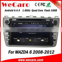 """Top Version Android 4.4.4 car dvd 8"""" 2 din for mazda 6 car audio system radio gps 1080p 2008-2012"""