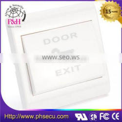 White ABS housing access control emergency exit button