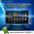 Newest Android 4.4 car dvd player for Toyota 2015 highlander