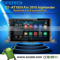 1024*600 Android 4.4 touch screen car dvd player for toyota 2015 highlander