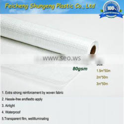 pe transparent film with reinforced woven fabric and foil