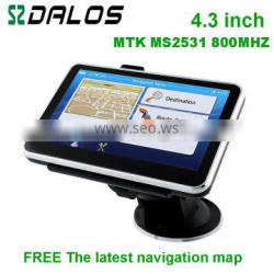 4.3 inch vehicle gps navigation device with bluetooth AV-IN 4GB only us$32
