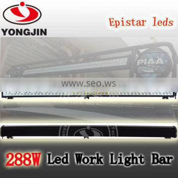 Factory direct sell 288W 50 inch led light bar for off road 4x4,SUV,ATV,4WD,truck.
