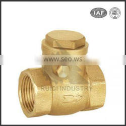 China Custom Cast Brass butt welded threaded Swing Check Valve