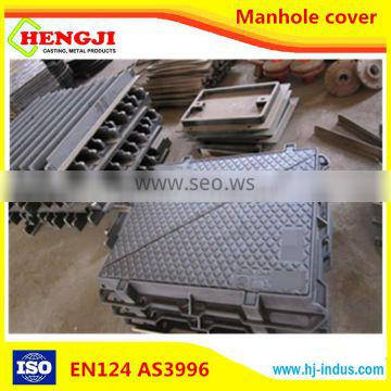 EN124 ISO9001 professional desigh of Ductile Iron Round and square OEM composite manhole cover price