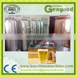 Small Capacity Glass bottle automatic beer filling machine / production line