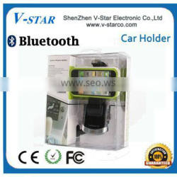 2015Universal bluetooth cd slot car mount holder, bluetooth handsfree and car charger 3 in 1 functions