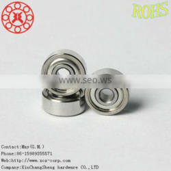 Carbon/carbon steel sealed deep groove ball bearing 601X