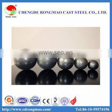 High hardness and impact toughness medium chrome 130mm low price grinding steel ball