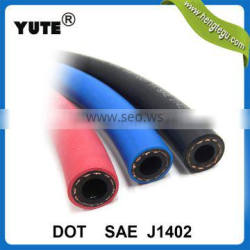 YUTE brand type a red black blue color 3/8 inch air brake hose with sae j1402