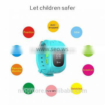 2016 Live tracking 520 GPS Tracker Smart Watch Phone for Kids Safety