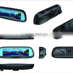 Rearview mirror Car DVR with 8.2-inch HD LCD srcreen capcitive screen WIFI connected