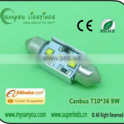Led for car CANBUS LED FESTOON LIGHT 9W led light ca rled car bulbs