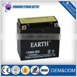 china superior quality strong starting motorcycle battery 12N9-BS